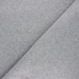 Fleece fabric - mottled light grey Warm x 10cm