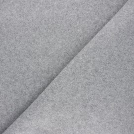 Tissu polaire Warm - gris clair chiné x 10cm