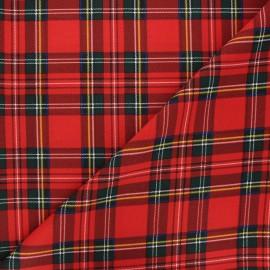 Tissu polyester Écossais - rouge x 10cm
