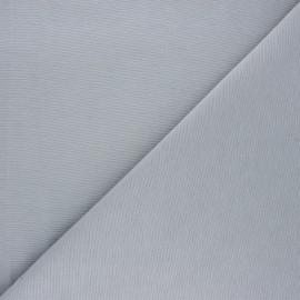 Plain polycotton canvas fabric - light grey x 10cm