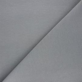 Plain polycotton canvas fabric - grey x 10cm