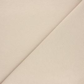 Plain polycotton canvas fabric - beige x 10cm