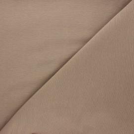 Tissu toile polycoton uni - taupe x 10cm