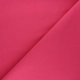 Tissu toile polycoton uni - rose x 10cm
