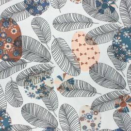 Tissu coton cretonne enduit Ajaccio - marron x 10cm