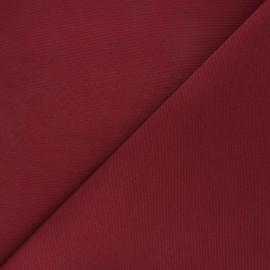 Tissu toile polycoton uni - bordeaux x 10cm