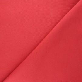 Tissu toile polycoton uni - rouge x 10cm