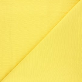 Plain polycotton canvas fabric - yellow x 10cm