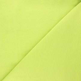 Tissu toile polycoton uni - vert anis x 10cm