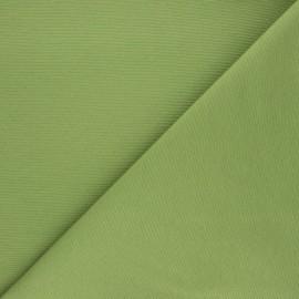 Tissu toile polycoton uni - vert mousse x 10cm