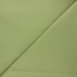 Tissu toile polycoton uni - vert avocat x 10cm