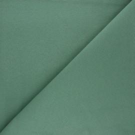 Tissu toile polycoton uni - eucalyptus x 10cm