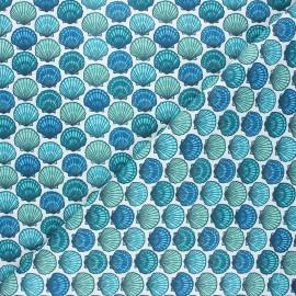 Cretonne cotton fabric - celadon St Jacques x 10cm