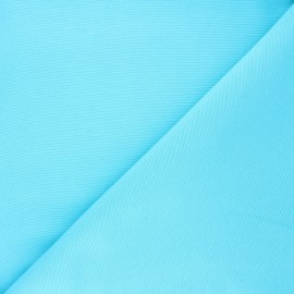 Tissu toile polycoton uni - turquoise x 10cm
