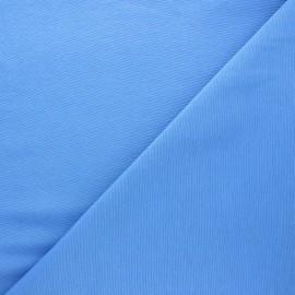 Tissu toile polycoton uni - bleu x 10cm