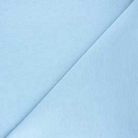 Tissu toile polycoton uni - bleu clair x 10cm