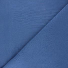Tissu toile polycoton uni - bleu saphir x 10cm