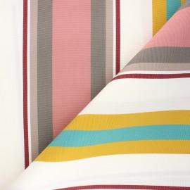 Tissu toile plein air Dralon® Mentoue (320cm) - rose x 10cm