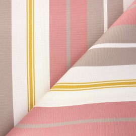 Tissu toile plein air Dralon® Bonifacio (320cm) - rose x 10cm