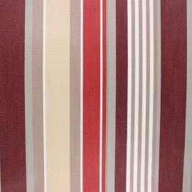 Coated sunny outdoor canvas fabric - burgundy Elba x 10cm