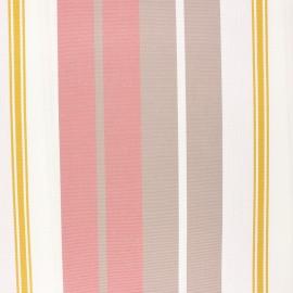 Tissu toile extérieur enduit Sunny Bonifacio - rose x 10cm