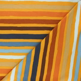 Poppy french terry fabric - mustard yellow Stripes x 10cm