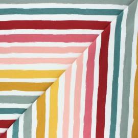 Poppy french terry fabric - off-white Stripes x 10cm