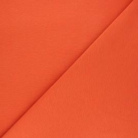 Tissu toile polycoton uni - orange x 10cm