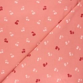 Poppy jersey fabric - tea pink Cherry x 10cm
