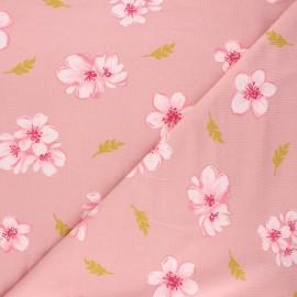 Poppy modal jersey fabric - tea pink Cherry blossom x 10cm