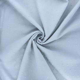 Plumetis cotton voile fabric - light grey Aéria x 10cm