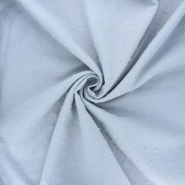 Tissu voile de coton plumetis Aéria - gris clair x 10cm