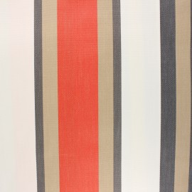 Tissu toile extérieur enduit Sunny Tango - orange x 10cm