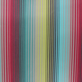 Coated sunny outdoor canvas fabric - turquoise Bandol x 10cm