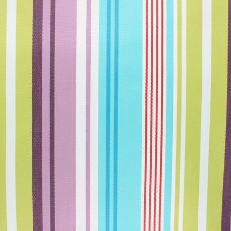 Coated sunny outdoor canvas fabric - turquoise Lavandou x 10cm