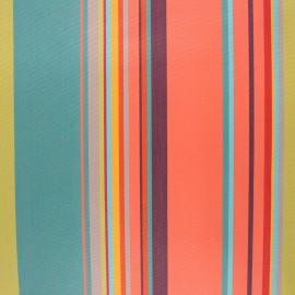Coated sunny outdoor canvas fabric - coral Calvi x 10cm