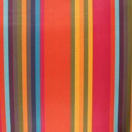Tissu toile extérieur enduit Sunny Samba - fuchsia x 10cm