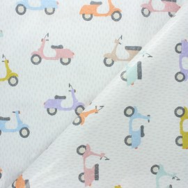 Tissu coton enduit Fryett's Scooter - beige x 10cm