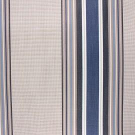 Coated sunny outdoor canvas fabric - blue Le Croisic x 10cm