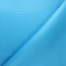 Waterproof polyester canvas fabric - azure blue x 10cm