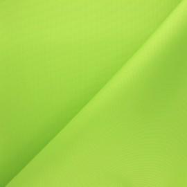 Tissu toile polyester imperméable - vert anis x 10cm