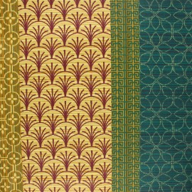Coated cretonne cotton fabric - multicolor Manuela x 10cm