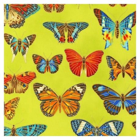 Fabric Field Notes Metallic Papillons Garden x 10cm
