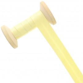 Biais Satin 20 mm - jaune pâle - Bobine de 25 m