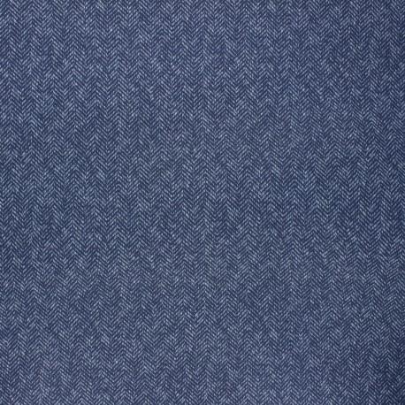 Dralon® outdoor canvas fabric - navy blue Chevron x 10cm