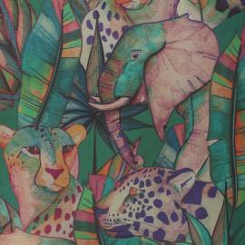 Dralon® outdoor canvas fabric - green Guépard x 10cm