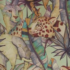 Dralon® outdoor canvas fabric - almond green Guépard x 10cm