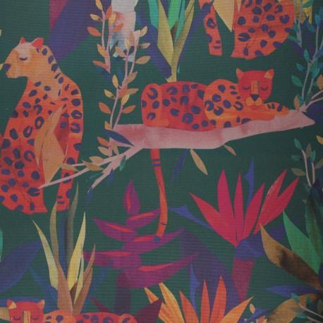 Tissu toile transat Dralon® Léo - vert x 10cm
