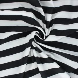 Poppy poplin cotton fabric - black Stripe x 10cm