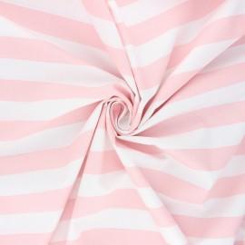 Poppy poplin cotton fabric - light pink Stripe x 10cm